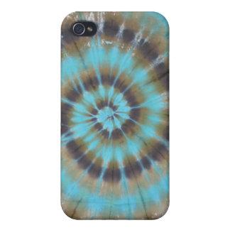Turquoise Swirl Tie Dye iPhone 4 Case