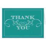 Turquoise Swirl Wedding Thank You Cards