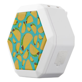 Turquoise tacos white boombot rex bluetooth speaker