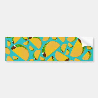 Turquoise tacos bumper sticker