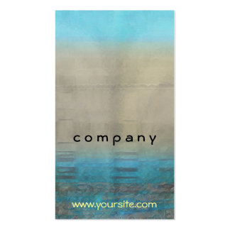 Turquoise & Tan Ocean Abstract Business Card Template