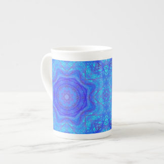 Turquoise Tangle Bone China Mug