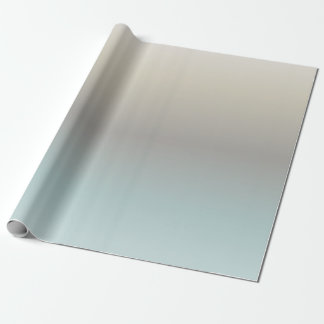 Turquoise Taupe Cream Gradient Wrapping Paper