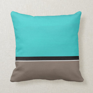 Turquoise Taupe Modern Cushion