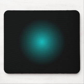 Turquoise Teal 3D Soft Blue Planet Office Gift Mouse Pad