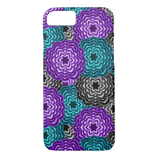 Turquoise Teal Blue Lavender Purple Grey Dahlia iPhone 8/7 Case