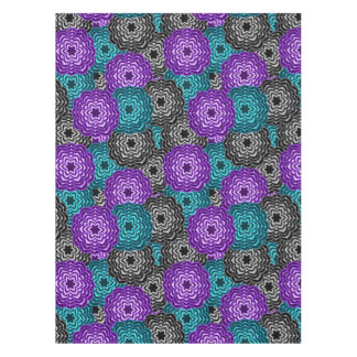 Turquoise Teal Blue Lavender Purple Grey Dahlia Tablecloth