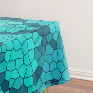 Turquoise Teal Blue Pattern Tablecloth