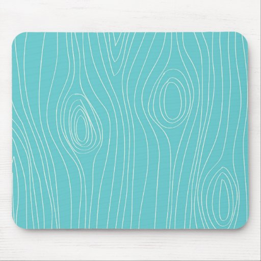 Turquoise, Teal Blue, Wood Grain Mouse Pads