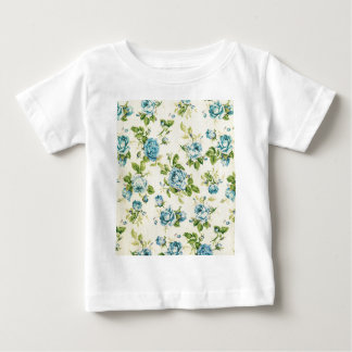 turquoise,teal,floral vintage,victorian,grunge, baby T-Shirt