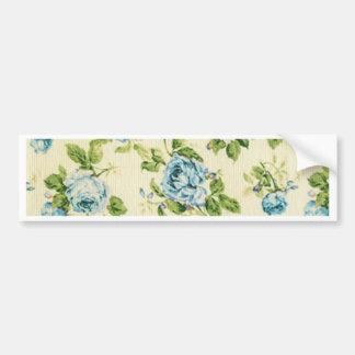 turquoise,teal,floral vintage,victorian,grunge, bumper sticker