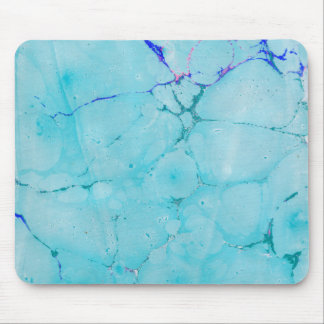 Turquoise Teal Marble Paint Abstract Watercolor Mouse Mat