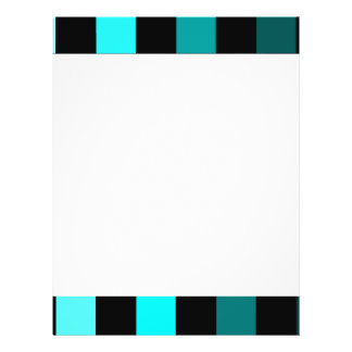 Turquoise Teal Ombre Checkerboard Chessboard 21.5 Cm X 28 Cm Flyer