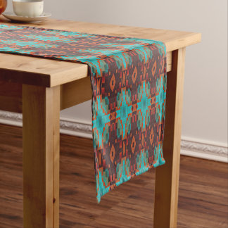 Turquoise Teal Orange Red Eclectic Ethnic Look