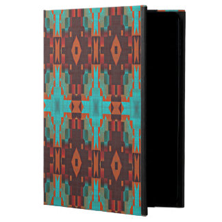 Turquoise Teal Orange Red Tribal Mosaic Pattern Powis iPad Air 2 Case