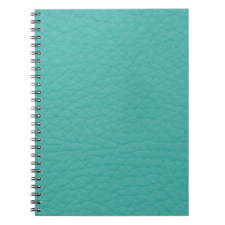 Turquoise Teal Retro Trendy Custom Leather Notebooks