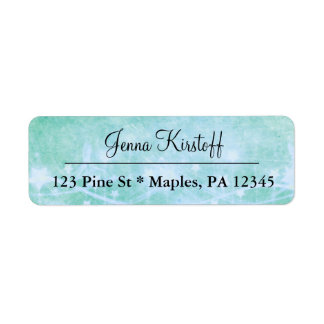 Turquoise Teal Stars  Address Labels