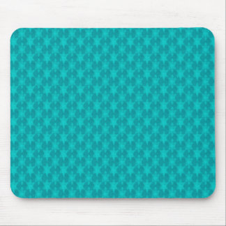 Turquoise Teal Stars Mouse Mat