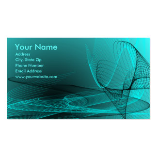 Turquoise Tech Business Cards