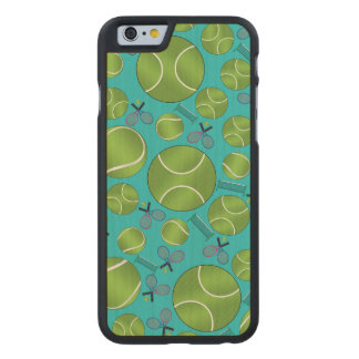 Turquoise tennis balls rackets and nets carved® maple iPhone 6 case
