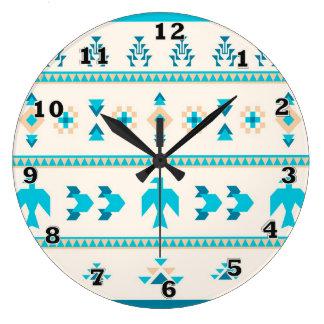 Turquoise Thunderbird Clock