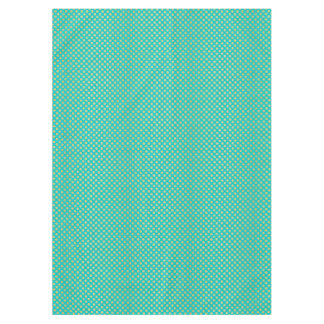 Turquoise Tiffany and Gold Daisy Flower Sparkle Tablecloth