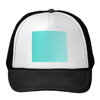 Turquoise to Celeste Vertical Gradient Mesh Hat