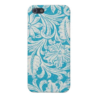 Turquoise Tool Leather PRINT Speck Case iPhone 4 iPhone 5/5S Case