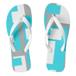 Turquoise Tranquility Funky Flip Flops