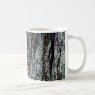 Turquoise tree bark mug