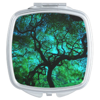 Turquoise Tree of Life Compact Mirror