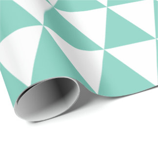 Turquoise Triangles Wrapping Paper