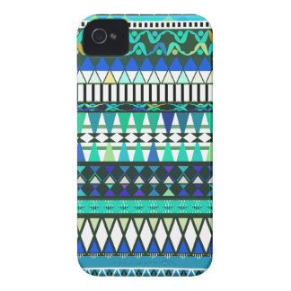 Turquoise Tribal Pattern Case-Mate iPhone 4 Cases