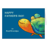 Turquoise Turtles Greeting Card(customisable)