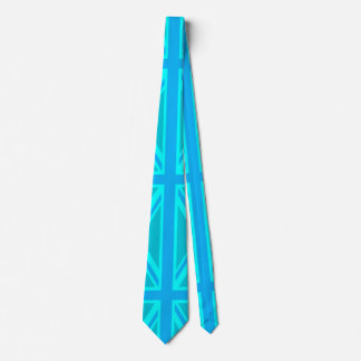 Turquoise Union Jack British Flag Customise it Tie