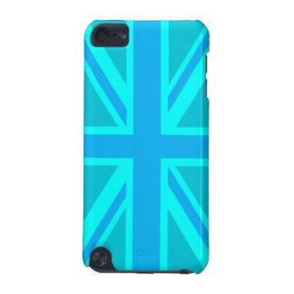 Turquoise Union Jack British Flag iPod Touch 5G Cases