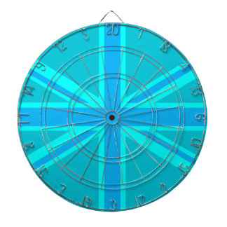 Turquoise Union Jack Flag Decor Dartboard