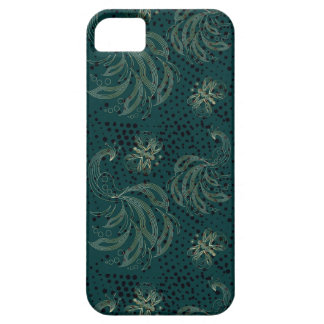 Turquoise vintage butterfly seamless pattern iPhone 5 case