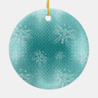 Turquoise vintage butterfly xmas tree christmas ornament