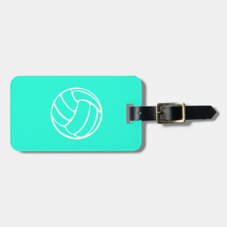 Turquoise Volleyball Luggage Tag