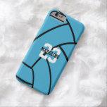 Turquoise Volleyball Monogram Custom iPhone Case