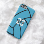 Turquoise Volleyball Monogram Custom iPhone Case Barely There iPhone 6 Case