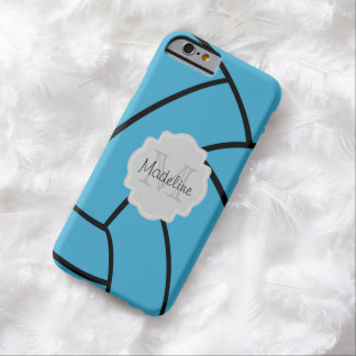 Turquoise Volleyball Monogram iPhone Case Barely There iPhone 6 Case