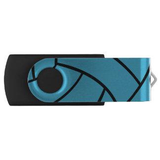 Turquoise Volleyball USB Flash Drive Swivel USB 2.0 Flash Drive