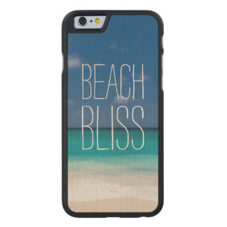 Turquoise Water Beach Bliss Carved Maple iPhone 6 Case