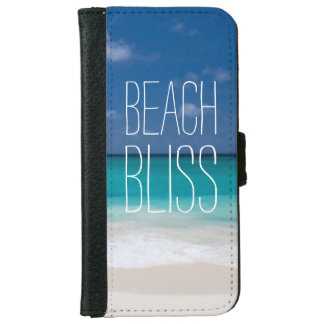 Turquoise Water Beach Bliss iPhone 6 Wallet Case