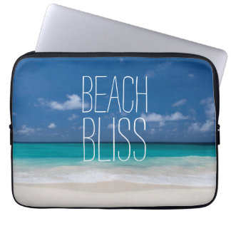 Turquoise Water Beach Bliss Laptop Sleeve