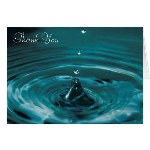 Turquoise Water Drop Thank You Greeting Card