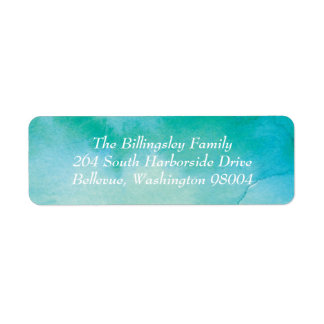 Turquoise Watercolor Address Label