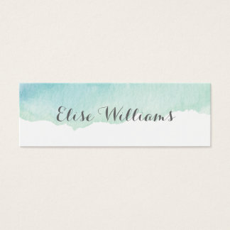 Turquoise Watercolor Contact Card